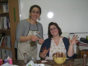 Atelier confection de chocolat