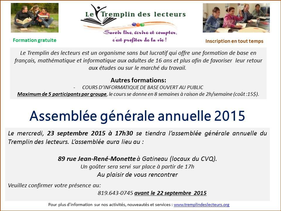 Informations pour l'AGA.